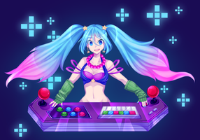 Arcade Sona by blushingbats