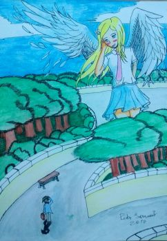 Drawing: Angelena Visits Arthur! by kjl03