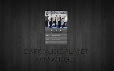 Dark Music Player for XWidget by boyzonet