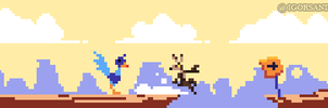 273/365 pixel art : Coyote and The Road Runner by igorsandman