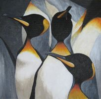 King Penguins by JBWolfer