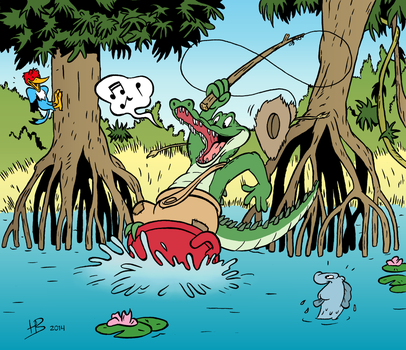 Cooter the Alligator by Hidde99