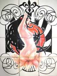 Mosaico baby pin up by blacsteel