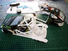 Ford Focus RS WRC 08 'Ken Block' Papercraft WIP by g3xter