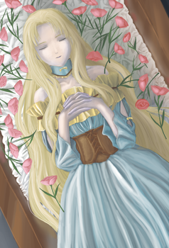 Death of St Mary Magdalene + LINEART DL for free by Aqua999