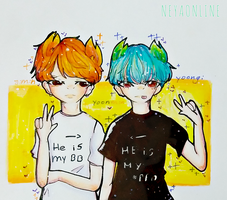 Yoonmin 1  by minhooskecthes