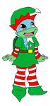 Venus the Christmas Elf Turtle by CCB-18