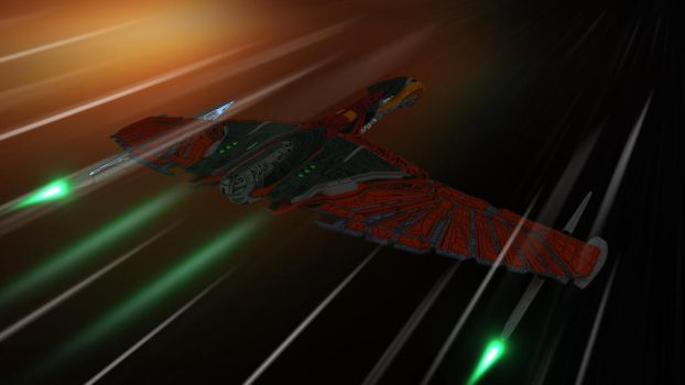 Romulan At Warp by PUFFINSTUDIOS