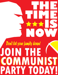 Red Propaganda Poster by WolfTron