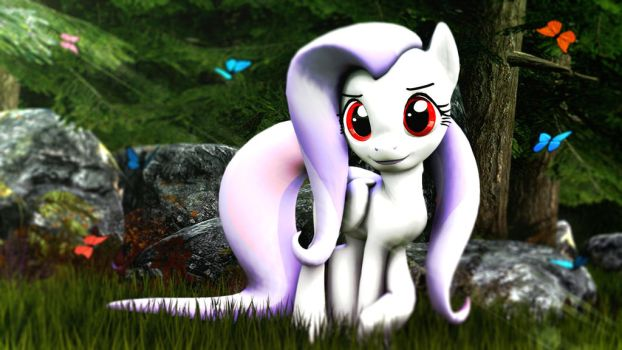 Shy pony in a forest by Grootoportunities