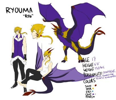 Ryouma Reference Sheet by SunsetFlareX