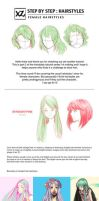 How to Draw : Hairstyles Pt. 2 by leexz