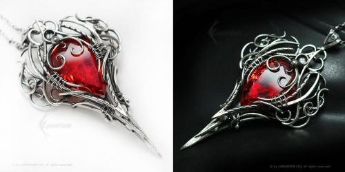 IZEERADAMIX Silver and Red Zirconia by LUNARIEEN