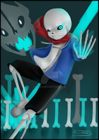 Sans | Do you wanna have a bad time? by Kiumii