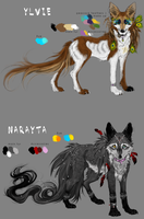 Ref-Sheet : Ylvie 'n' Narayta by WhiteSpiritWolf