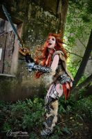 Female Barbarian from Diablo 3 (Sonya) by Brynhild by Brynhild-Undomiel