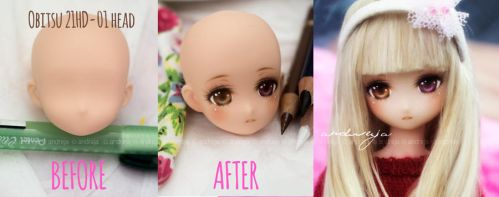 Before and After - Obitsu+Azone hybrid by AndrejA