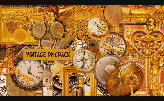 Vintage Pngpack #60 by LilithDemoness