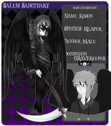 Salem Sanctuary App ~ Karon by TheYamiClaxia