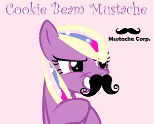 Cookie Beam 'I'll wear this Mustache' by Miko-Chan10