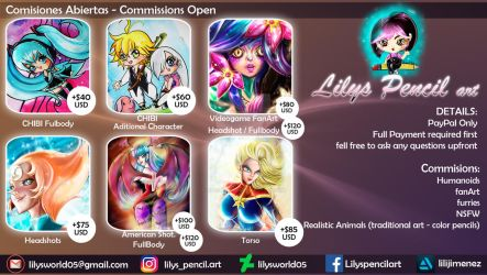 Comisiones Abiertas - Commissions Open by Lilysworld05
