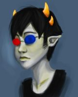 Quick Sollux Paint by clorinspats