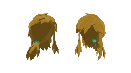 |MMD Part - Link Hair (BoTW) [+Dl]| by Hylian-Ale