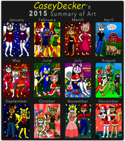 2015 Summary Of Art by CaseyDecker