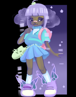 Galaxy Girl by 1PastelPanda1