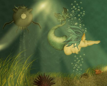 Big Beautiful Mermaid by erathion