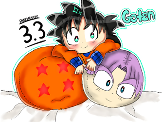 DragonBall Z - Goten BeanBags //3.3// by PandaHaze