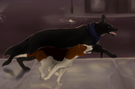 Sherdog and Jawn by Redfeathyrs
