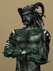 Sims 3 Lizardman by CamKitty2