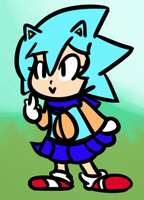 Classic Sonic-Chan by Milk-Knight
