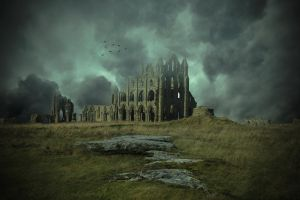 The Old Abbey.. by AledJonesDigitalArt