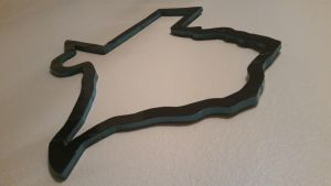 Black/Blue Wooden Texas Outline by gensanity