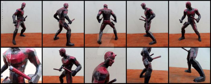 Marvel - Daredevil Papercraft by alicestuff