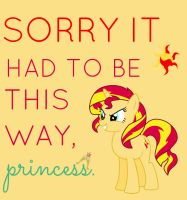 Sunset Shimmer Typography by poundfreeze