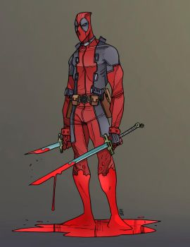 Deadpool by Fernando Pinto color by Chaz West 3-25 by ChazWest