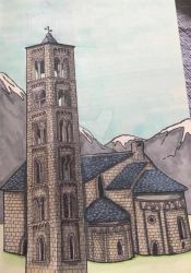 Romanesque church from Catalonia by Quarantine1977