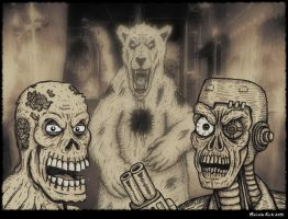Zombies+Cyborgs+Bears Oh my by MalcolmKirk