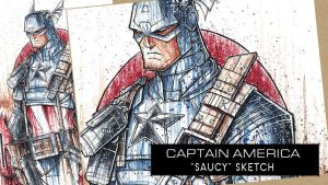 SpeedPaint: Captain America by RobDuenas