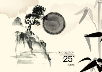 Chinese Painting Weather Widget for xwidget by Jimking