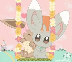 eevee and minccino