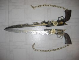 Steampunk Gunblades by darzeth