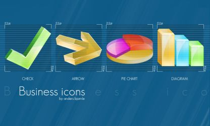 Business icons by Cheezen