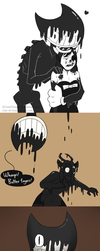 Ink Bendy and Alice Doodle Dump #4 by 9CentsChange