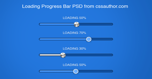 Download Free Progress and Loading Bars PSD by cssauthor