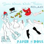 Snow Woman fashion Paperdoll by artchica83