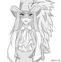 7 Day Drawing Challenge - Day 4 - Genderbent Rufus by FloatingPinkElephant
